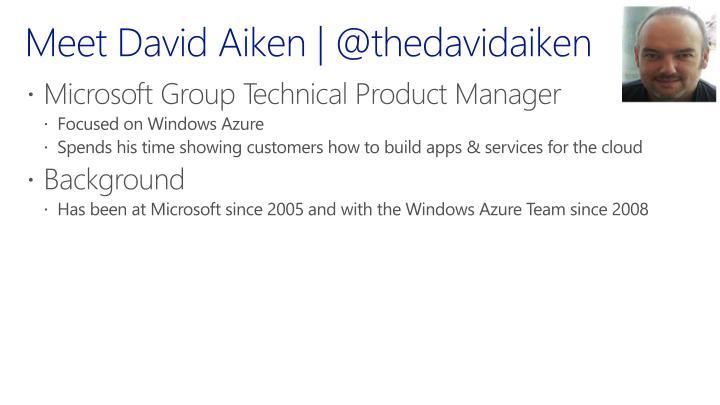 Meet David Aiken | @
