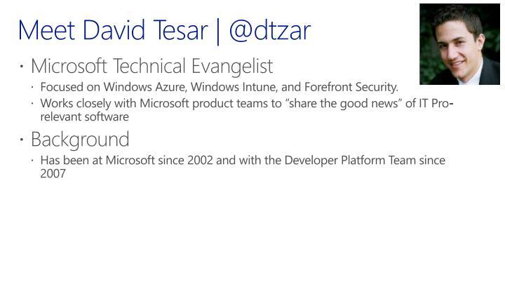 Meet David Tesar | @