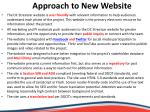 approach to new website