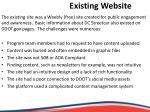 existing website