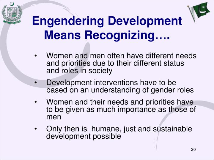 Engendering Development Means Recognizing