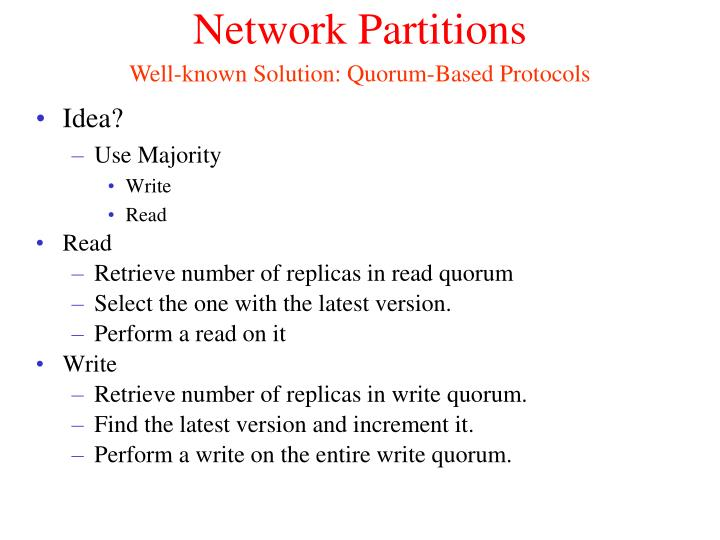 Network Partitions