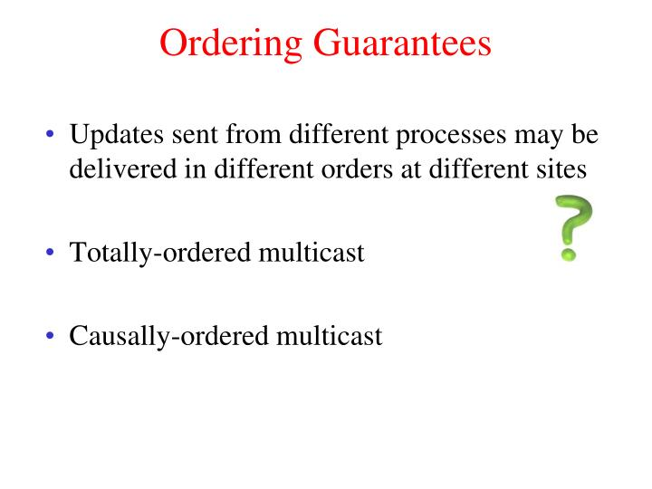 Ordering Guarantees