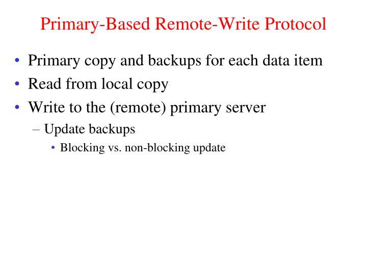 Primary-Based Remote-Write Protocol