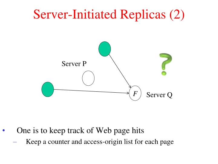 Server-Initiated Replicas (2)