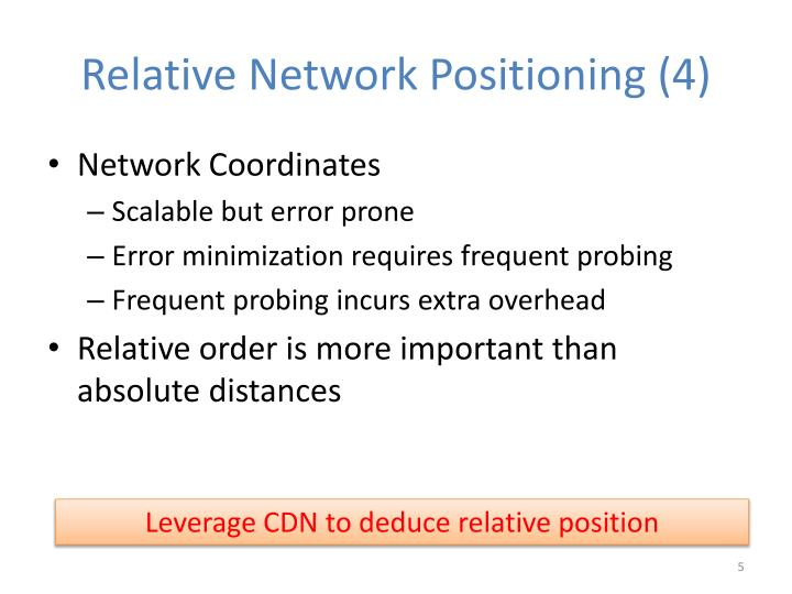 Relative Network Positioning (4)