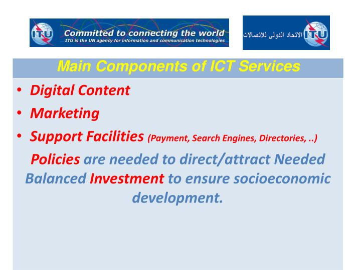 Main Components of ICT Services