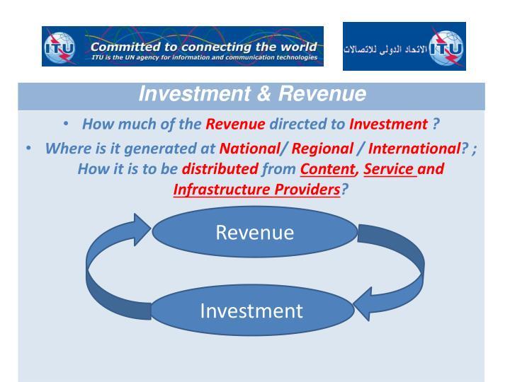 Investment & Revenue