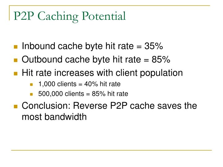 P2P Caching Potential