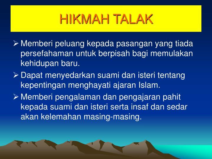 HIKMAH TALAK