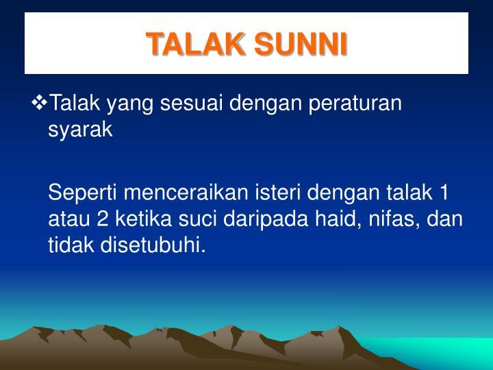 TALAK SUNNI