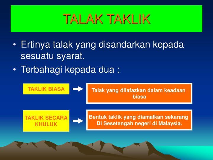 TALAK TAKLIK