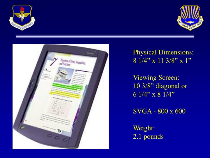 Physical Dimensions: