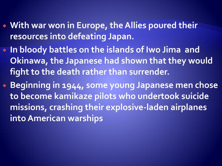 Defeat for Japan