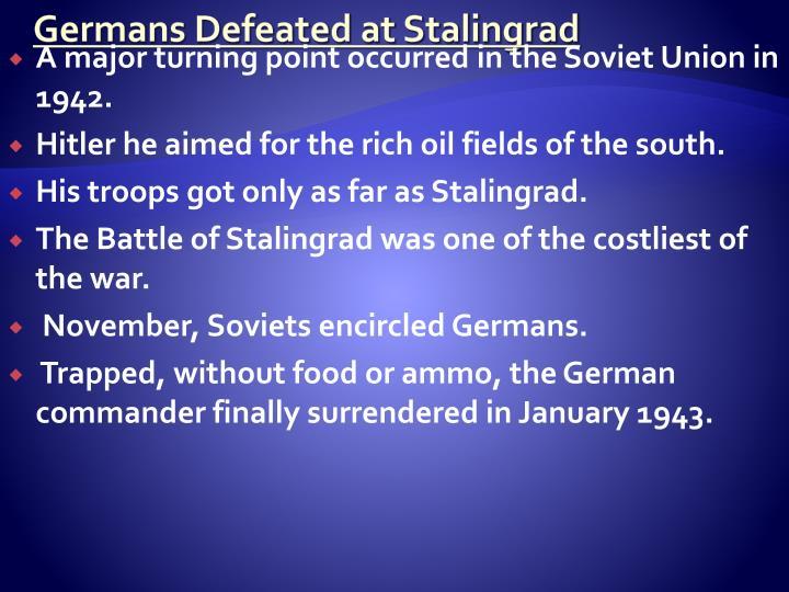 Germans Defeated at Stalingrad