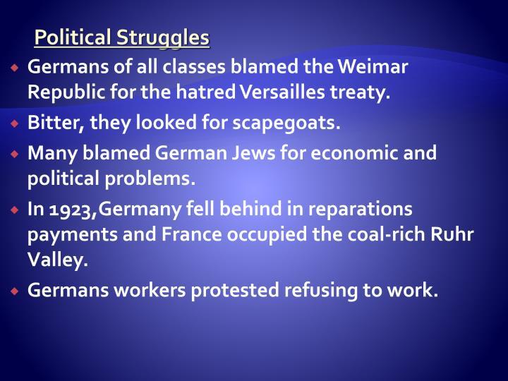 Political Struggles