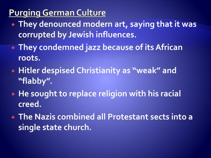 Purging German Culture