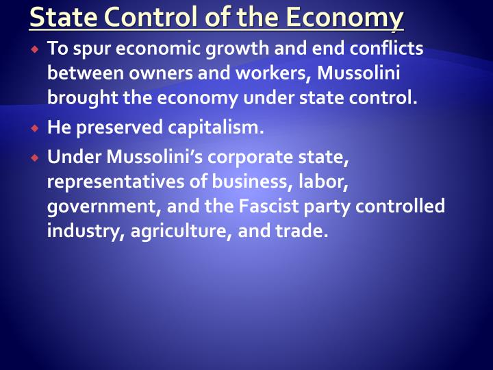 State Control of the Economy