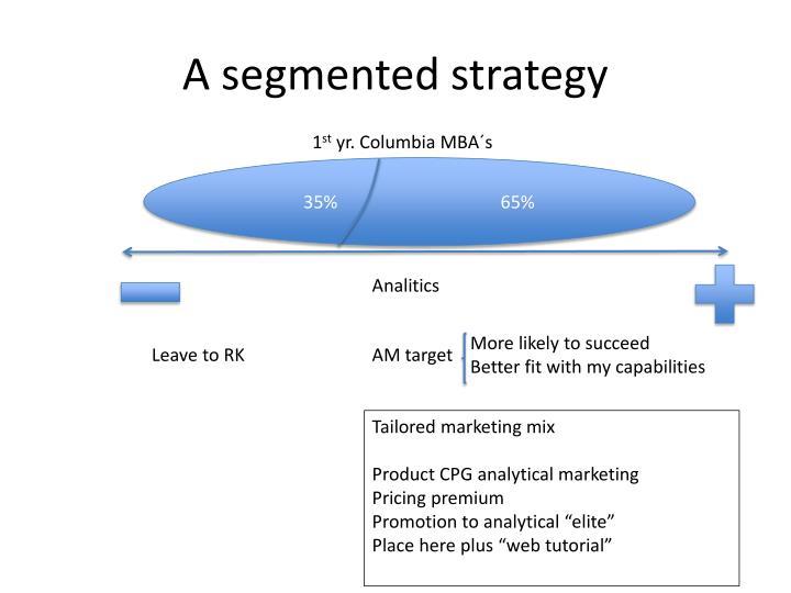 A segmented strategy