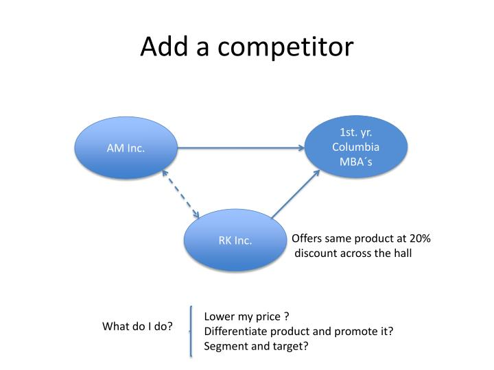 Add a competitor