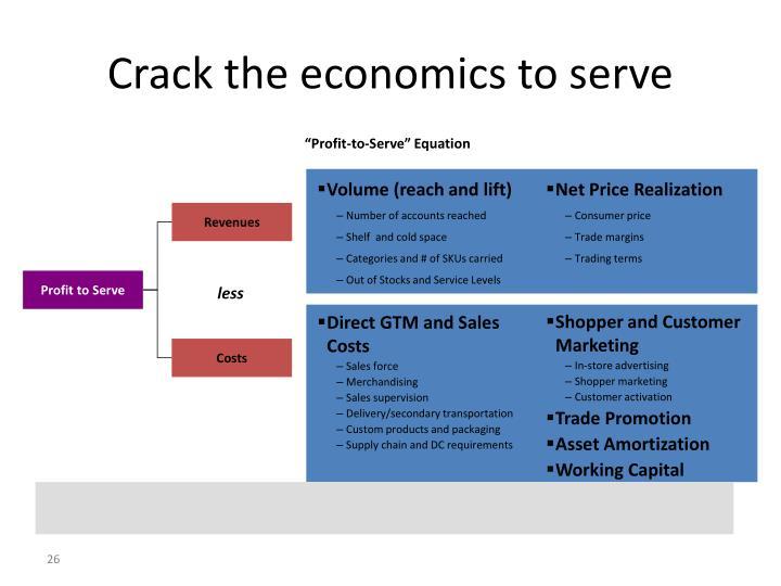 Crack the economics to serve