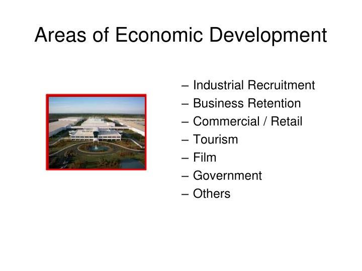 Areas of Economic Development