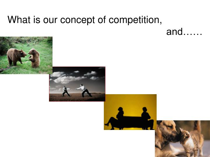 What is our concept of competition,