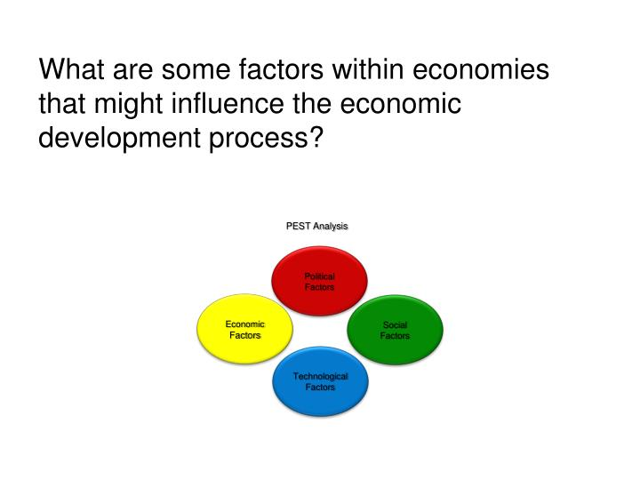 What are some factors within economies that might influence the economic development process?