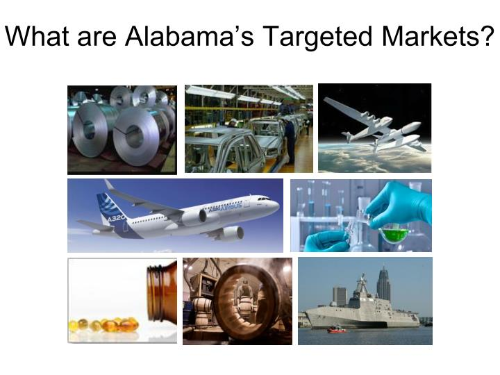 What are Alabama's Targeted Markets?