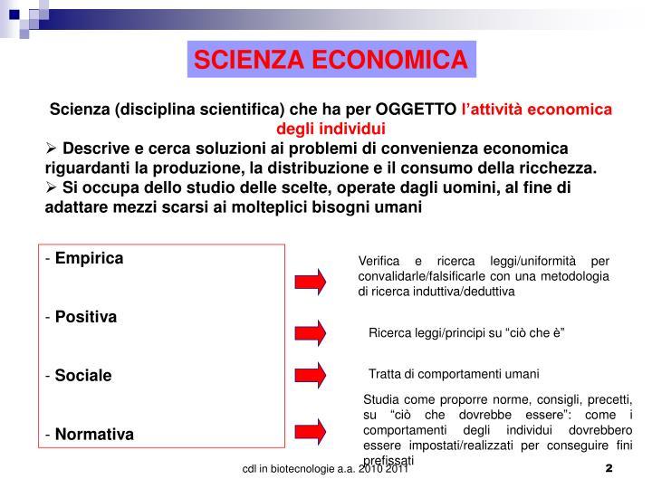 SCIENZA ECONOMICA