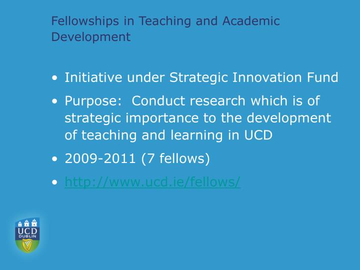 Fellowships in teaching and academic development