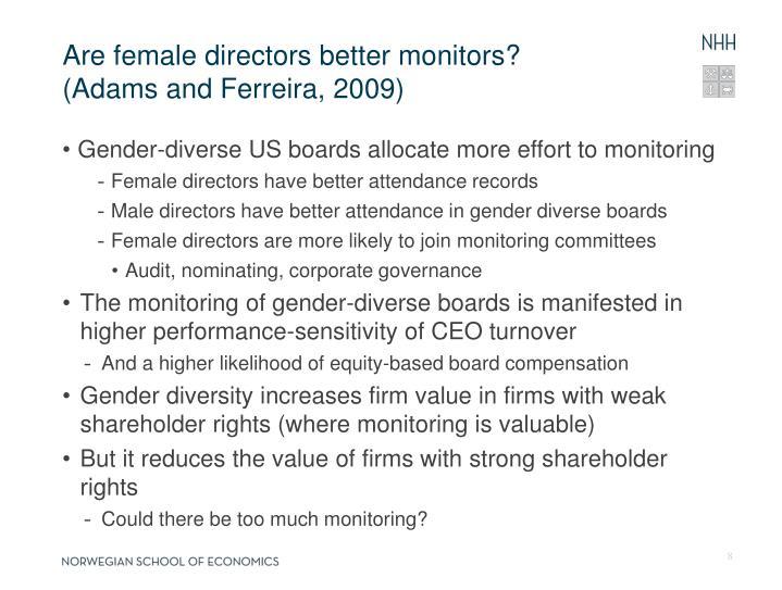 Are female directors better monitors?