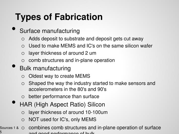 Types of Fabrication