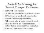 an audit methodology for trade transport facilitation