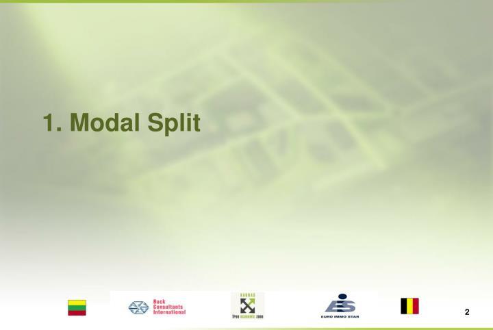 1. Modal Split