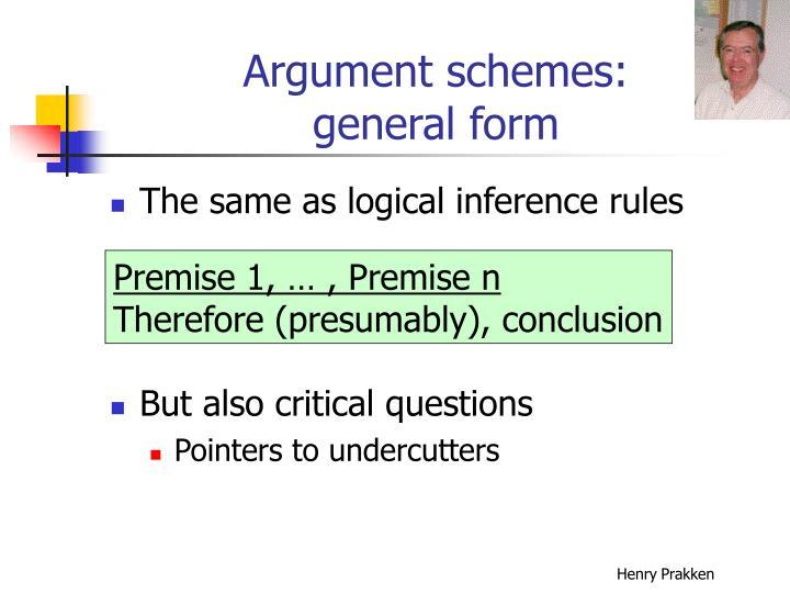 Argument schemes: