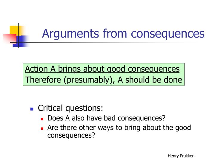 Arguments from consequences