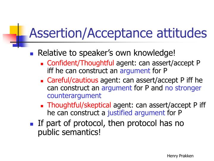 Assertion/Acceptance attitudes