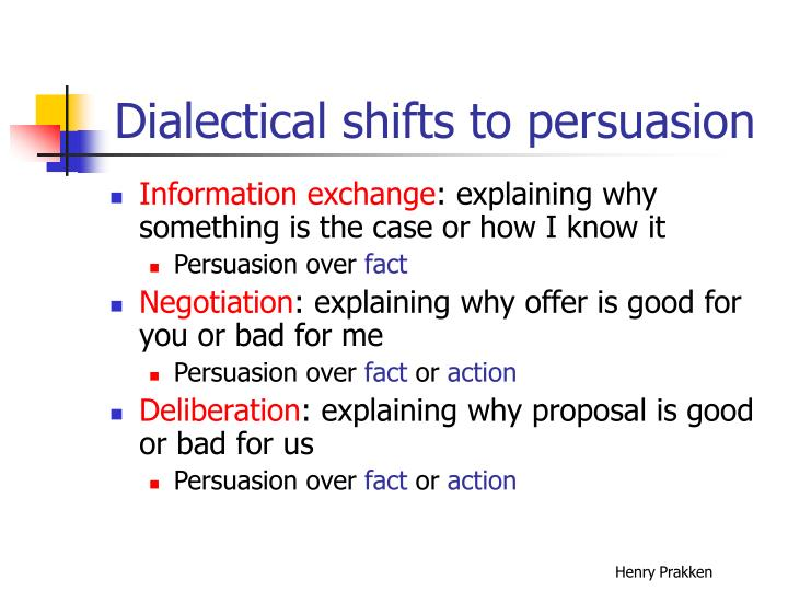 Dialectical shifts to persuasion