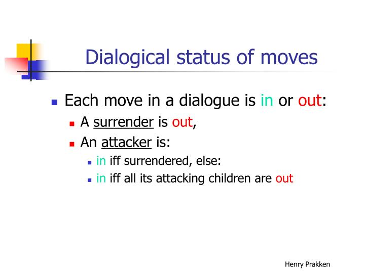 Dialogical status of moves