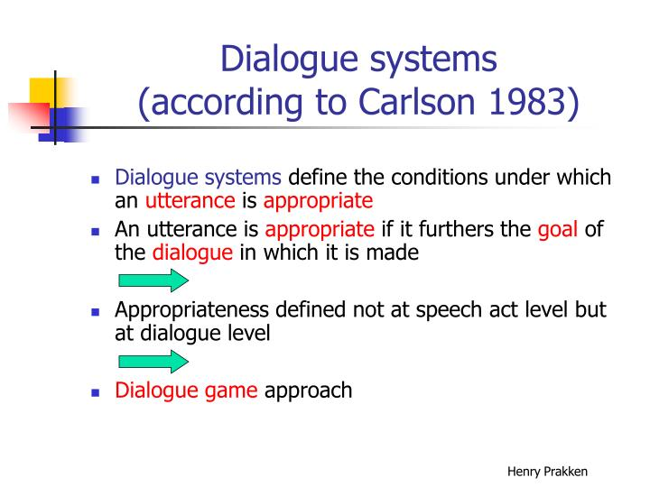Dialogue systems