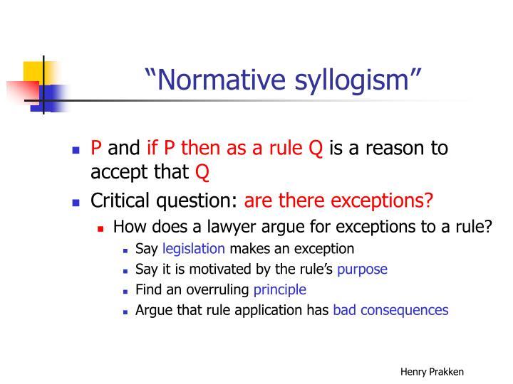 """Normative syllogism"""