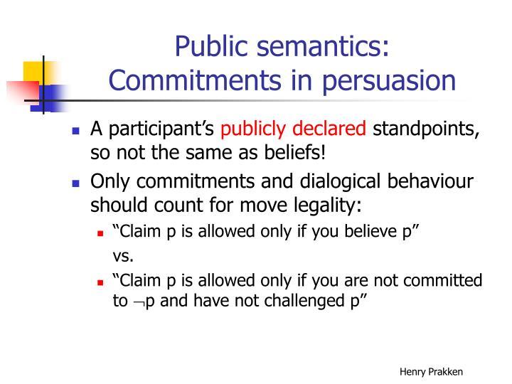 Public semantics:
