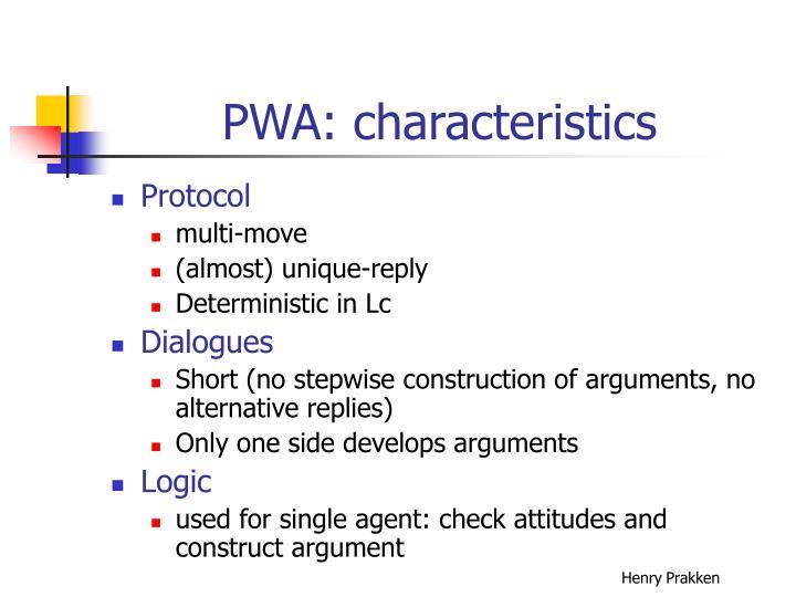PWA: characteristics