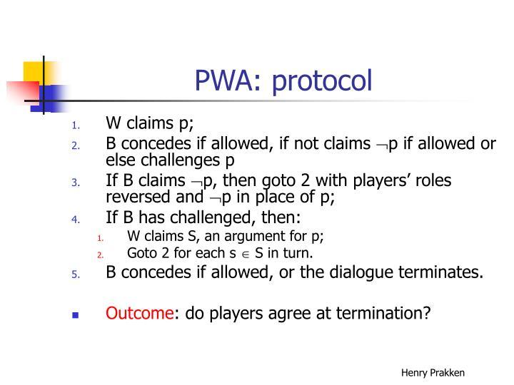 PWA: protocol
