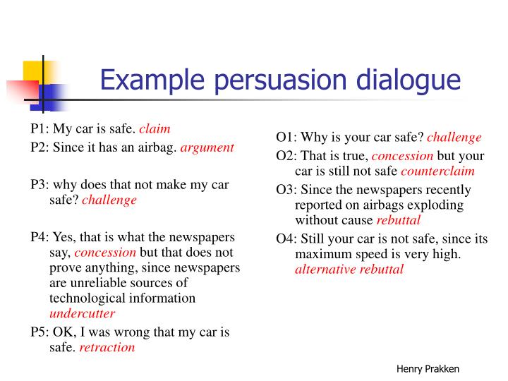 Example persuasion dialogue