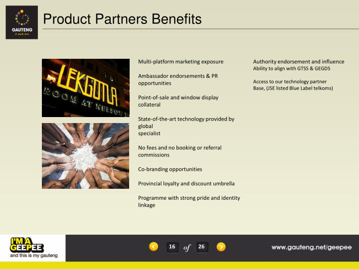 Product Partners Benefits