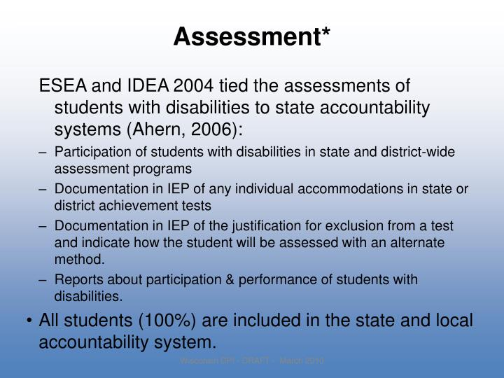 Assessment*
