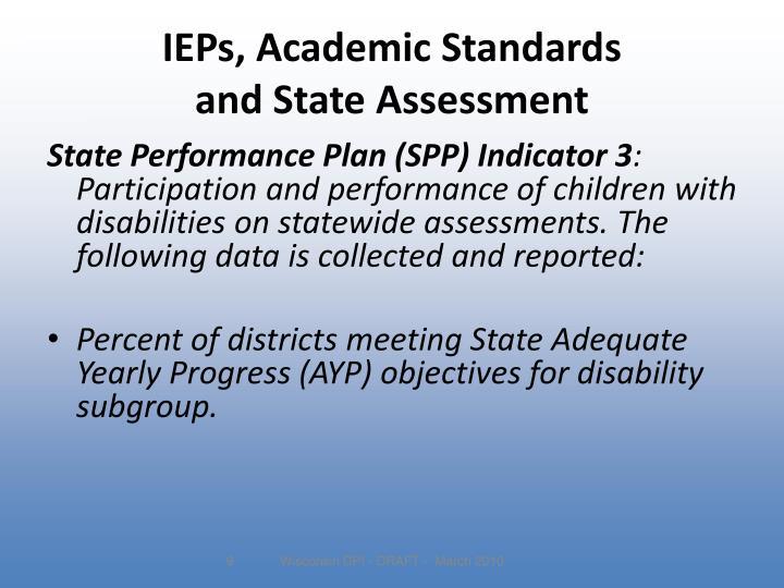 IEPs, Academic Standards