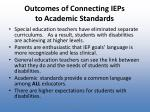 outcomes of connecting ieps to academic standards